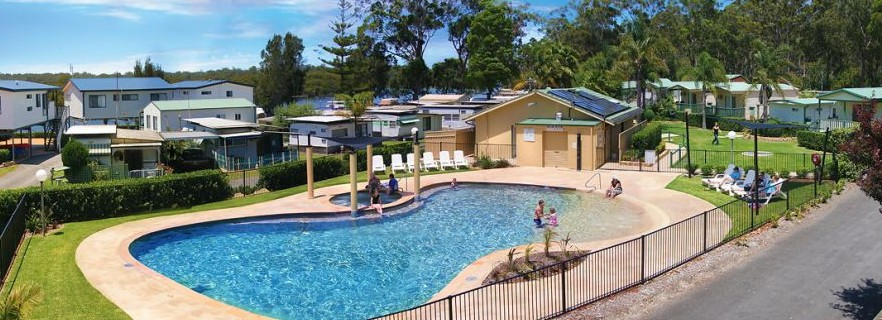 Jervis Bay Caravan Park Logo and Images
