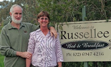 Russellee Bed and Breakfast Logo and Images