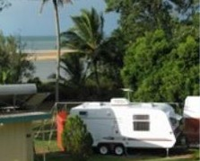 Bucasia Beachfront Caravan Resort Logo and Images