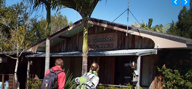 Woolshed Backpackers Logo and Images