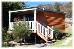 Queen Mary Falls Caravan Park and Cabins Logo and Images