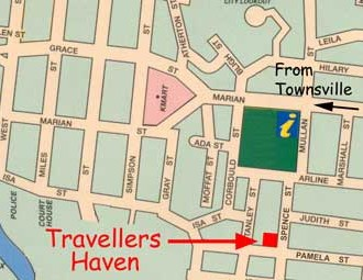 Travellers Haven Backpackers Logo and Images