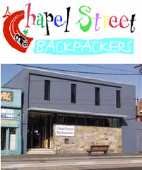 Chapel Street Backpackers Logo and Images