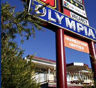 Olympia Motel Logo and Images