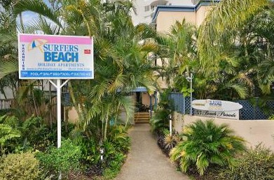 Surfers Beach Holiday Apartments Logo and Images