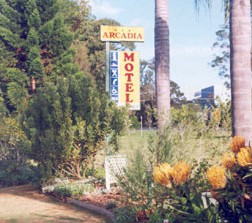 Arcadia Motel Logo and Images