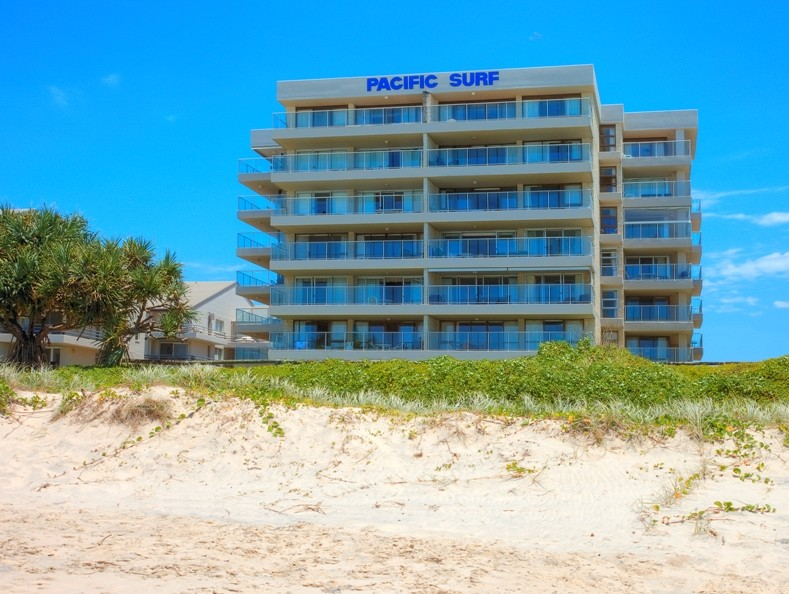 Pacific Surf Absolute Beach Apartments Logo and Images