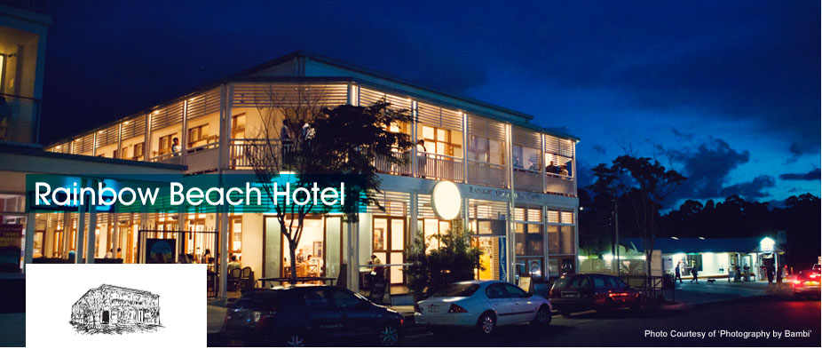 Rainbow Beach Hotel Logo and Images