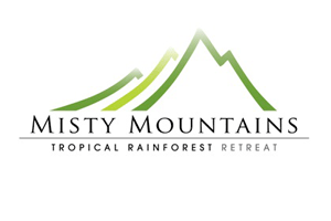 Misty Mountains Tropical Rainforest Retreat Logo and Images