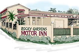 Rocky Gardens Motor Inn Logo and Images