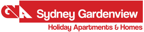 Sydney Gardenview Holiday Apartments & Homes Logo and Images