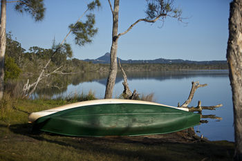 Lake Weyba Cottages Noosa Logo and Images