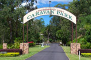 Landsborough Pines Caravan Park Logo and Images