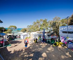 Mornington Peninsula Foreshore Camping Logo and Images