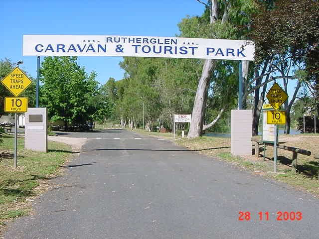 Rutherglen Caravan & Tourist Park Logo and Images