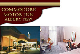 Commodore Motor Inn Logo and Images