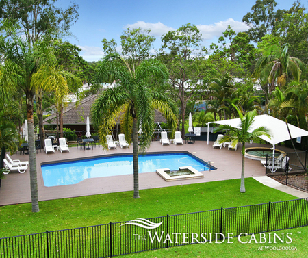 Waterside Cabins at Woolgoolga Logo and Images