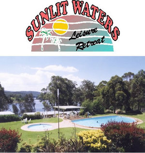 Sunlit Waters Leisure Retreat Logo and Images