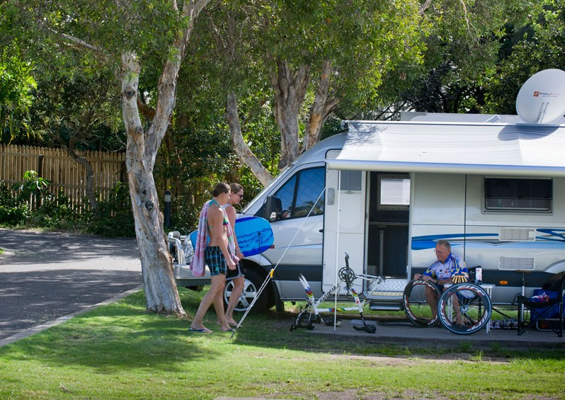 Mooloolaba Beach Holiday Park Logo and Images