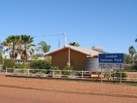 Jundah Caravan Park Logo and Images