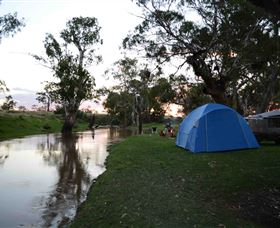 The Woolshed at Jondaryan Caravan and Camping Logo and Images