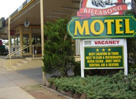Billabong Motel Logo and Images