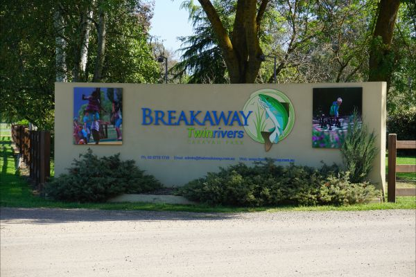Breakaway Twin Rivers Caravan Park Logo and Images