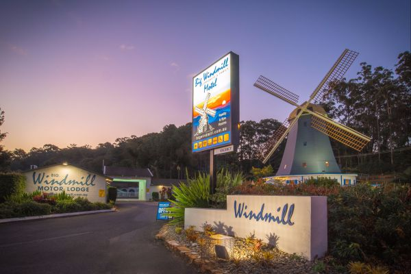 The Big Windmill Corporate and Family Motel Logo and Images