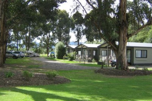 Bluegums Riverside Holiday Park Logo and Images