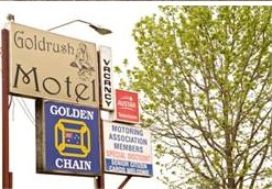 Goldrush Motel Logo and Images