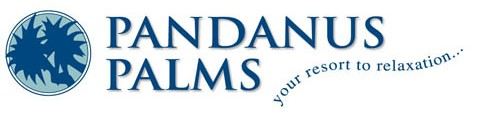Pandanus Palms Holiday Resort Logo and Images