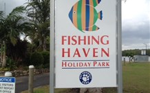 Fishing Haven Holiday Park Logo and Images