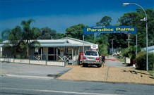 Paradise Palms Caravan Park Logo and Images