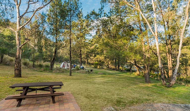 Warrabah campground and picnic area Logo and Images