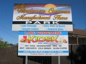 Lake Windemere Caravan Park Logo and Images