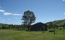 Woolshed Cabins Logo and Images
