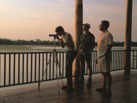 Jabiru Safari Lodge at Mareeba Wetlands Logo and Images