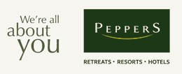 Peppers Ruffles Lodge and Spa Logo and Images