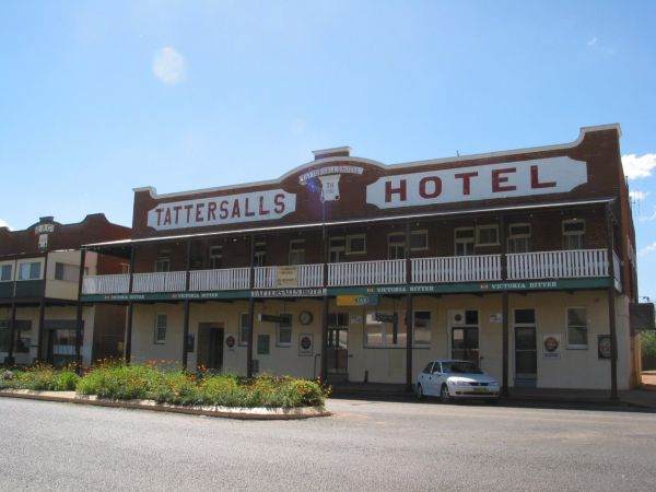 Tattersalls Hotel Baradine Logo and Images