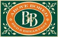 Above Bored Bed and Breakfast Logo and Images