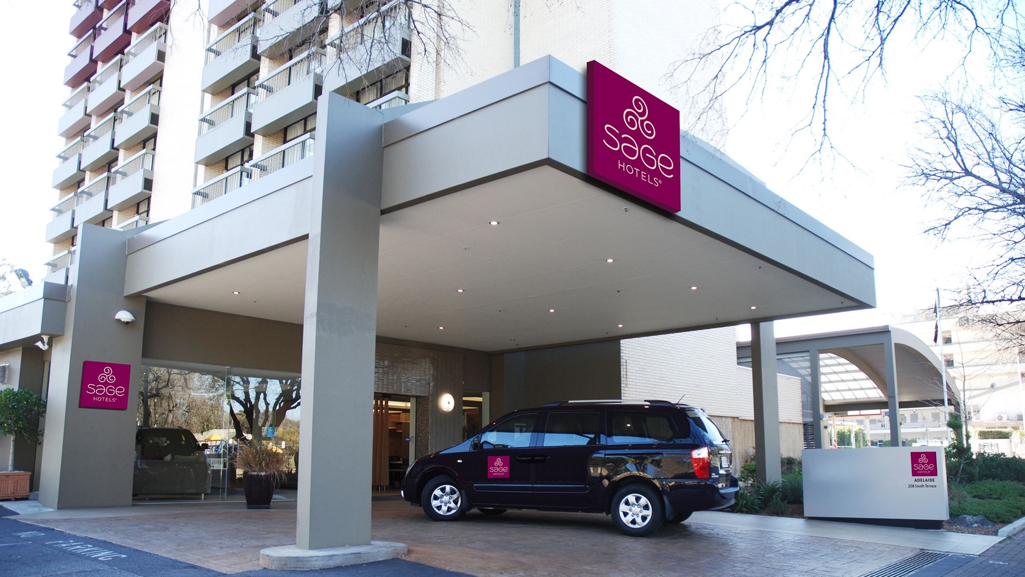 Sage Hotel Adelaide Logo and Images