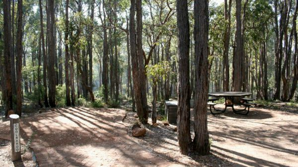 Perth Hills Centre Campground at Beelu National Park Logo and Images