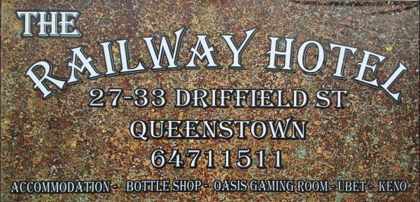 The Railway Hotel Queenstown Logo and Images