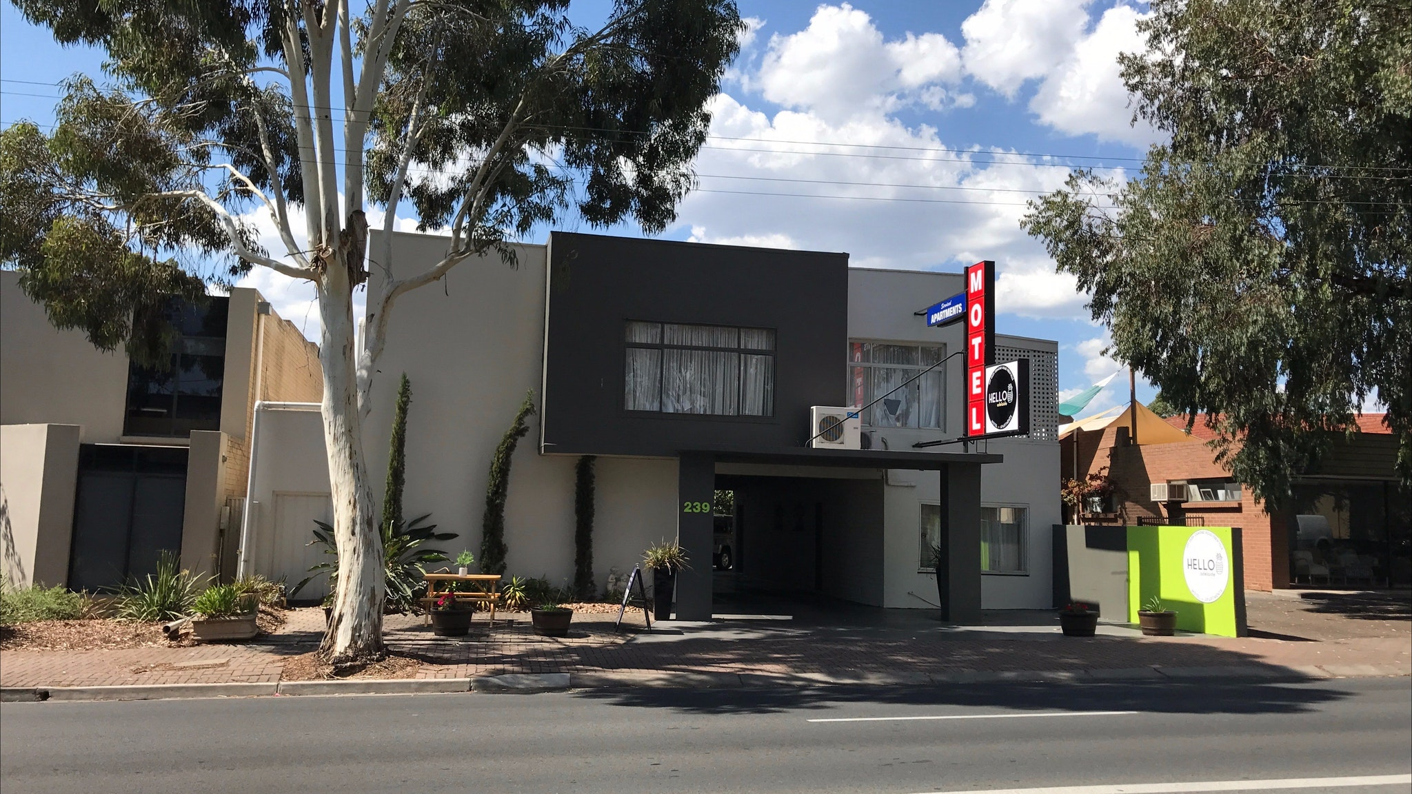 Hello Adelaide Motel Apartments - Frewville Logo and Images