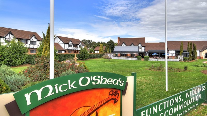 Mick OSheas Irish Pub And Motel Logo and Images