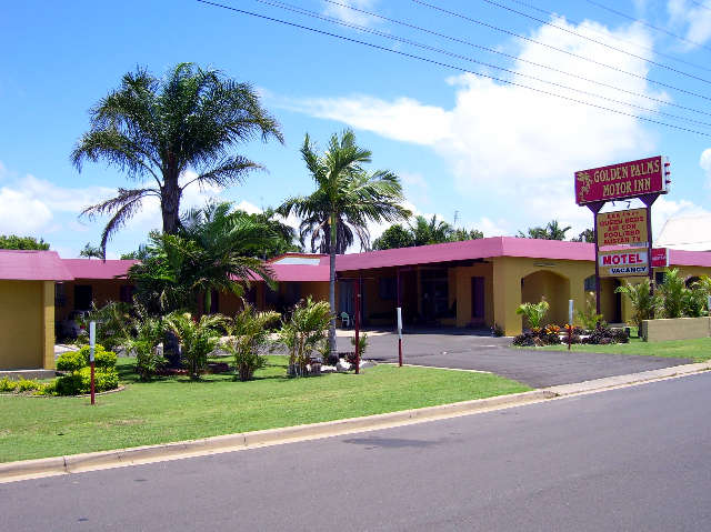 Golden Palms Motor Inn Logo and Images