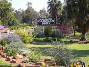 Macquarie Caravan Park Logo and Images