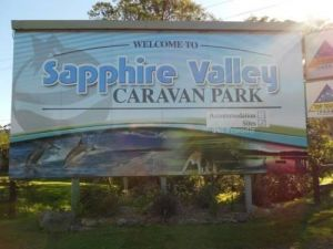 Sapphire Valley Caravan Park Logo and Images