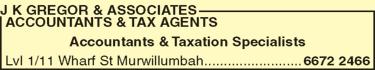 J K Gregor & Associates Accountants & Tax Agents
