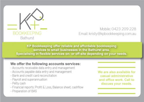 KP Bookkeeping Logo and Images